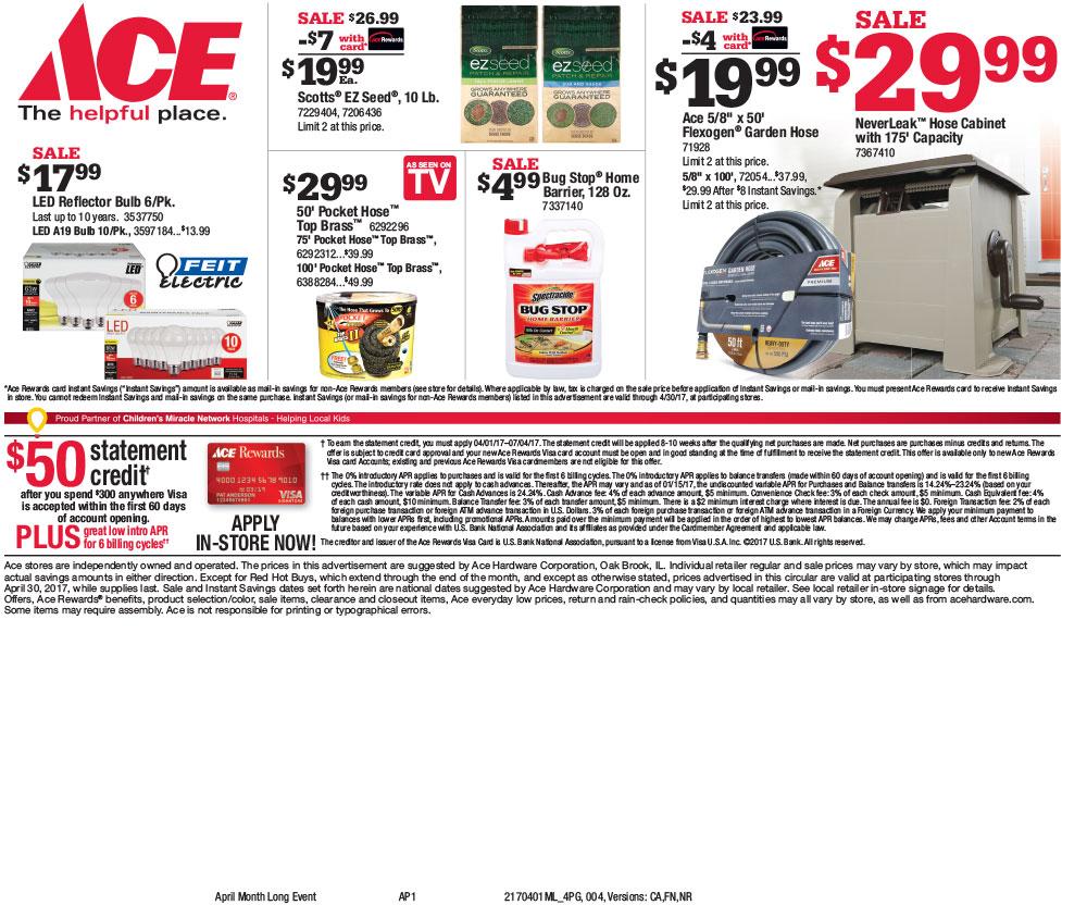 Circular A to Z Supply ACE Hardware Garden Center